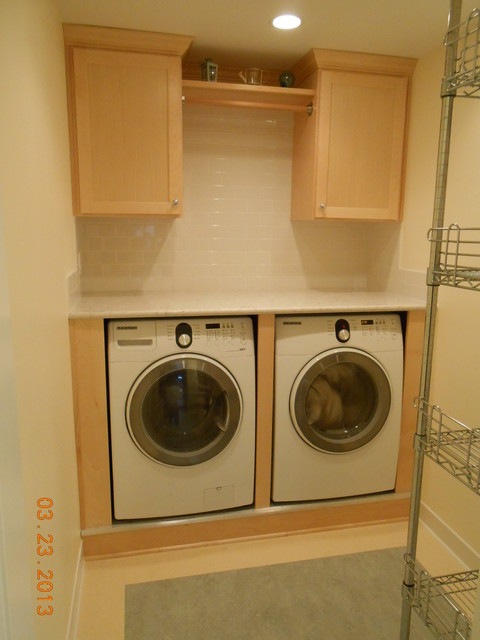 Laundry Room Front Loader Washer And Dryer Traditional