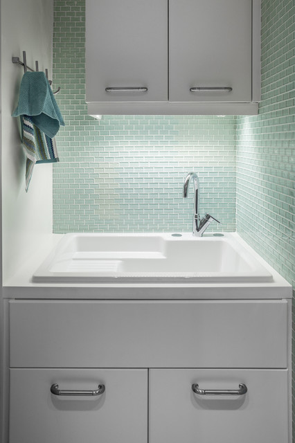 laundry room jade contemporary laundry room - Utility Sink Backsplash