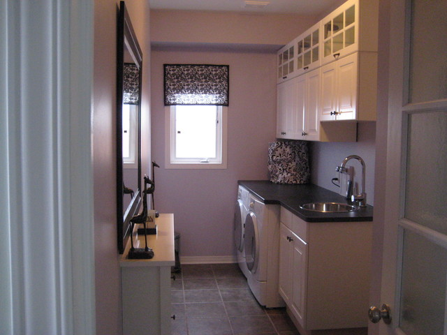 Small bathroom counter decorating ideas - Laundry Room Makeover Contemporary Laundry Room Toronto