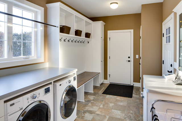 Laundry room mud room traditional laundry room for House plans with large laundry room