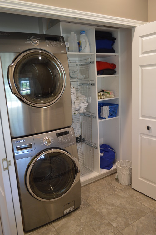 Have an unused guest closet convert it into a laundry room custom closets direct - Washing machine for small spaces gallery ...