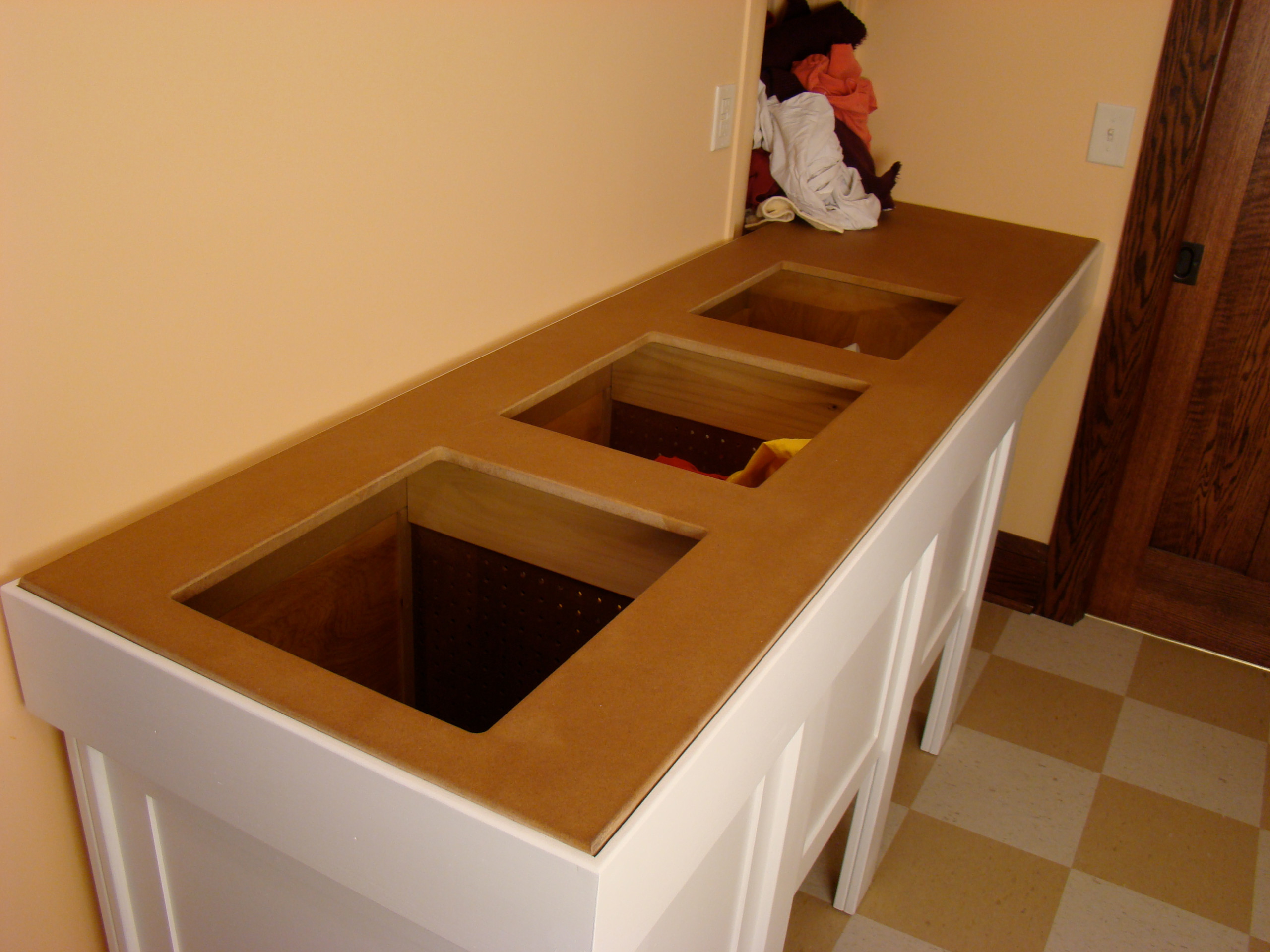 Laundry Room sorting table