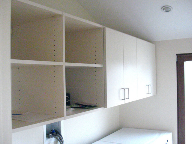 Laundry Room Storage Above Washer And Dryer Contemporary