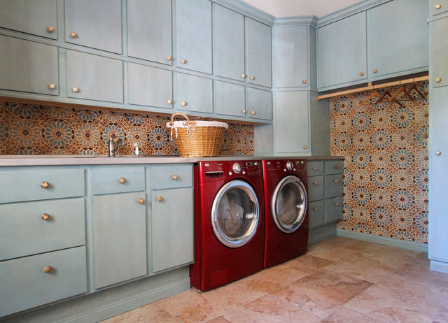 Laundry Room Tile mediterranean-laundry-room
