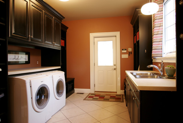 Laundry Room With Built In Cabinetry Modern Laundry