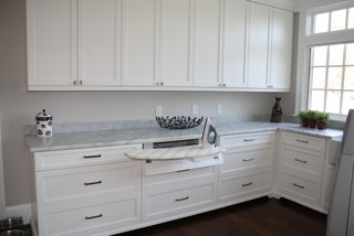 Laundry room - fold out ironing board