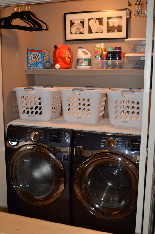 Wat are the dimensions of this laundry closet for Washer dryer closet dimensions