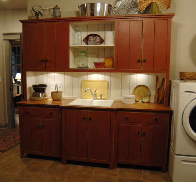 Lexington Kentucky Traditional Curly Maple Painted Kitchen Traditional Laundry Room