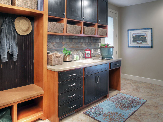 Living Forever on a Lake eclectic-laundry-room