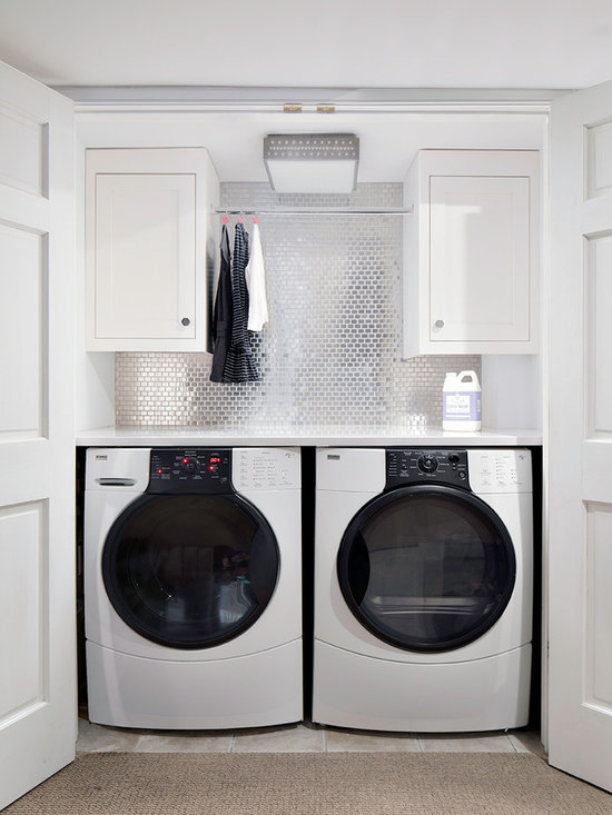 Laundry Room Design Ideas, Pictures, Remodel & Decor with White Cabinets
