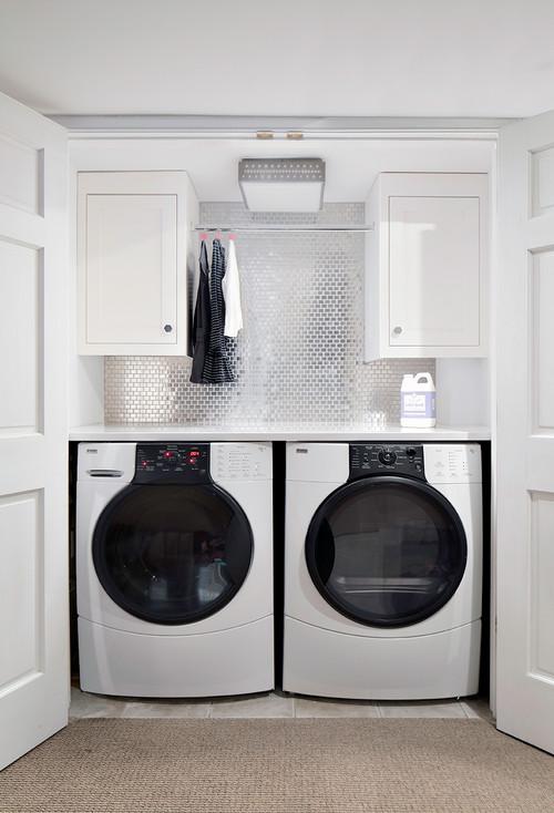 Smarta lösningar i liten tvättstuga