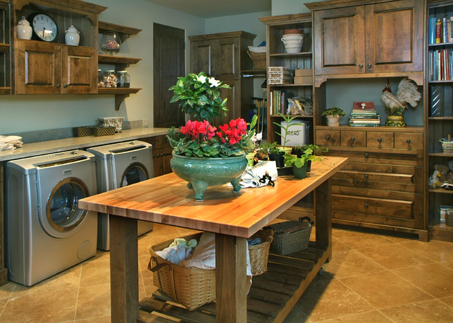Luxury Kitchen Traditional Laundry Room San Diego