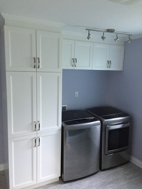 Main Floor Makeover Modern Laundry Room Montreal