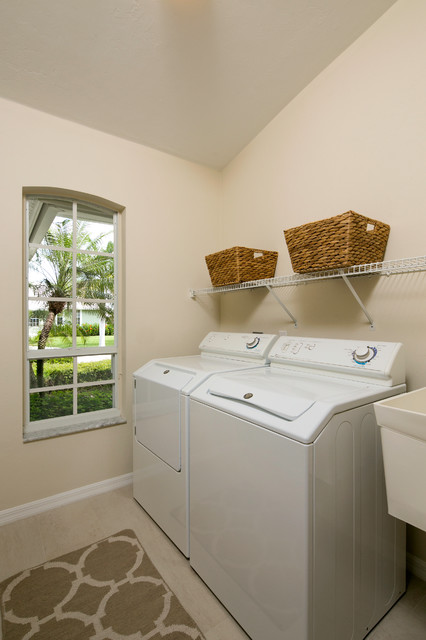 Marco Island Remodel beach-style-laundry-room