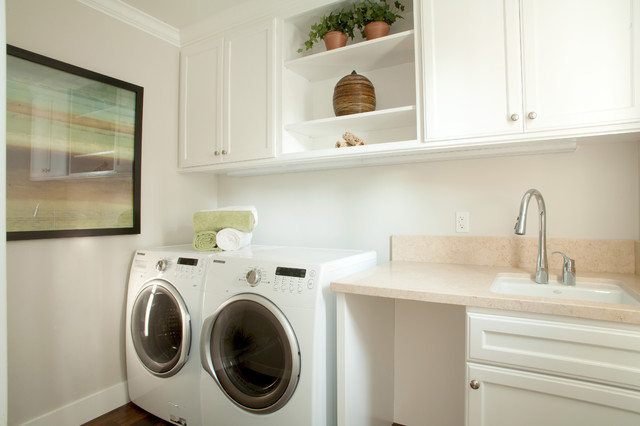 menlo park new home with basement traditional laundry room