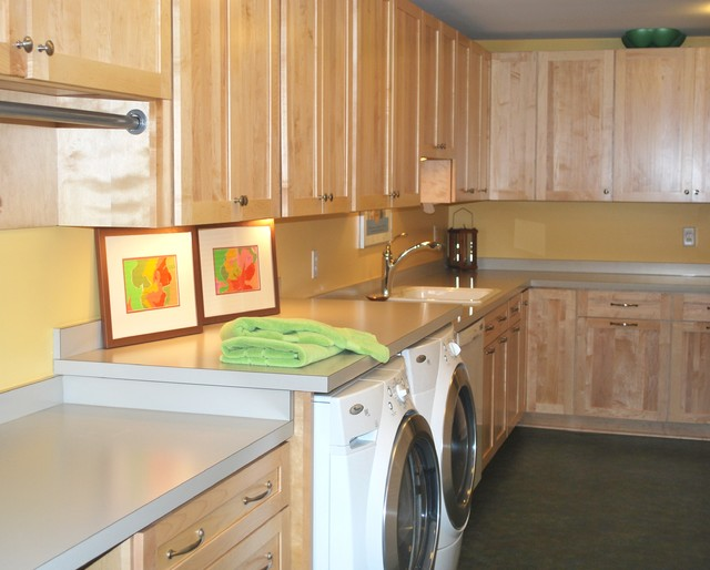 Mid-Century Modern Makeover traditional laundry room