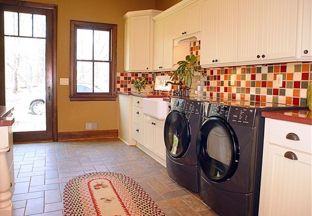 private home eclectic-laundry-room