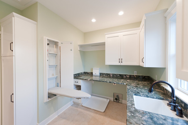 Mill Cabinet Shop Mudroom And Baths Contemporary Laundry Room