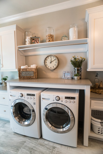Milton Remodel With Addition Transitional Laundry Room