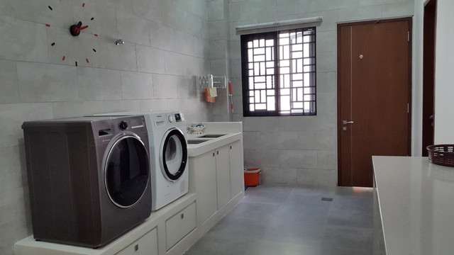 Minimalist Home in Malaysia Modern Laundry Room Other