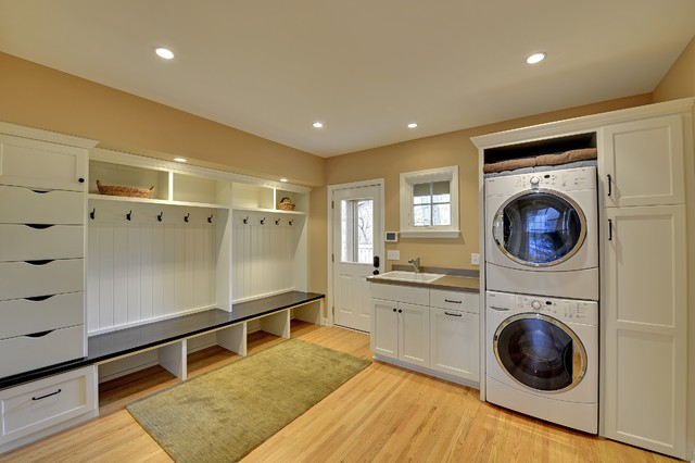 Minneapolis remodel addition for Large family laundry