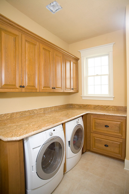 Minnetonka Home Cherry Cabinetry traditional-laundry-room