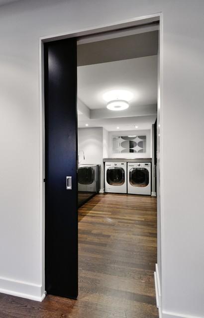 Modern Basement modern-laundry-room