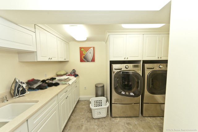 Basement Laundry Room Interior Remodel Contemporary Basement Design Build Remodel Modern Laundry Room