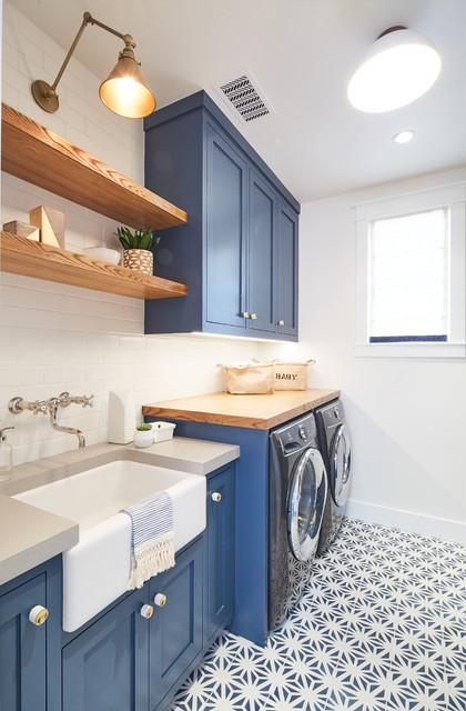 Modern Farmhouse beach-style-laundry-room