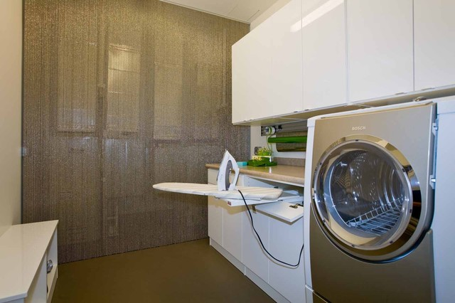 Luster of the Pearl contemporary-laundry-room