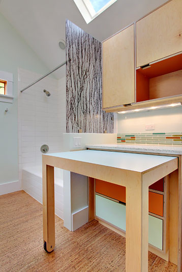 Cf laundry station modern laundry room seattle by kerf design - Pull out kitchen table ...