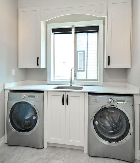 Modern laundry room with shaker style cabinets Vancouver - Modern - Laundry Room - Vancouver ...
