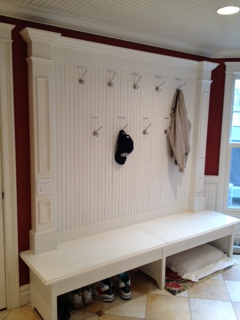 Mudroom Laundry Room Makeover Traditional Laundry Room New York