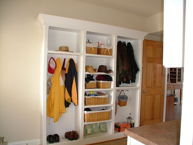 Mudroom built-ins traditional-laundry-room