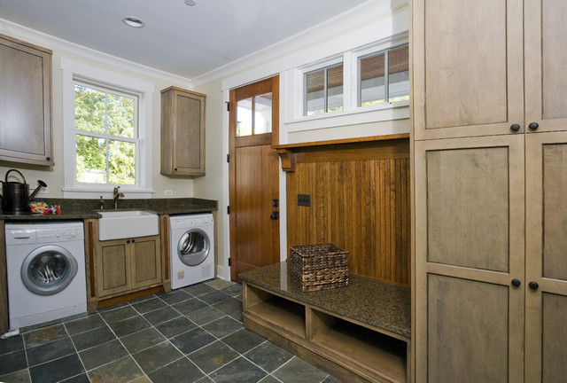 mudroom secondary laundry craftsman laundry room chicago by