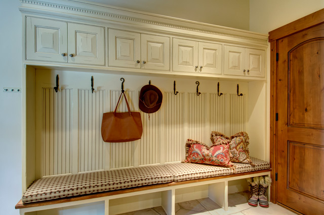 Marvelous Mudroom Storage Cubbies, Hooks And Bench Country Utility Room