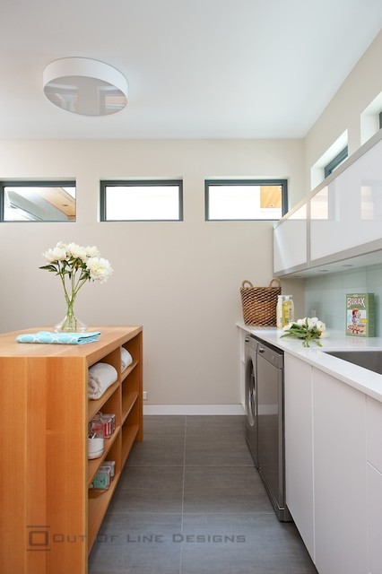Mudrooms modern-laundry-room