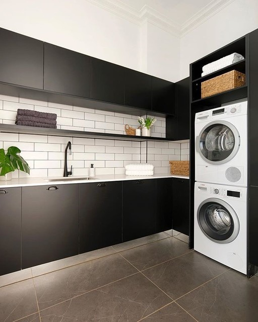 Multi-functional laundries modern-laundry-room