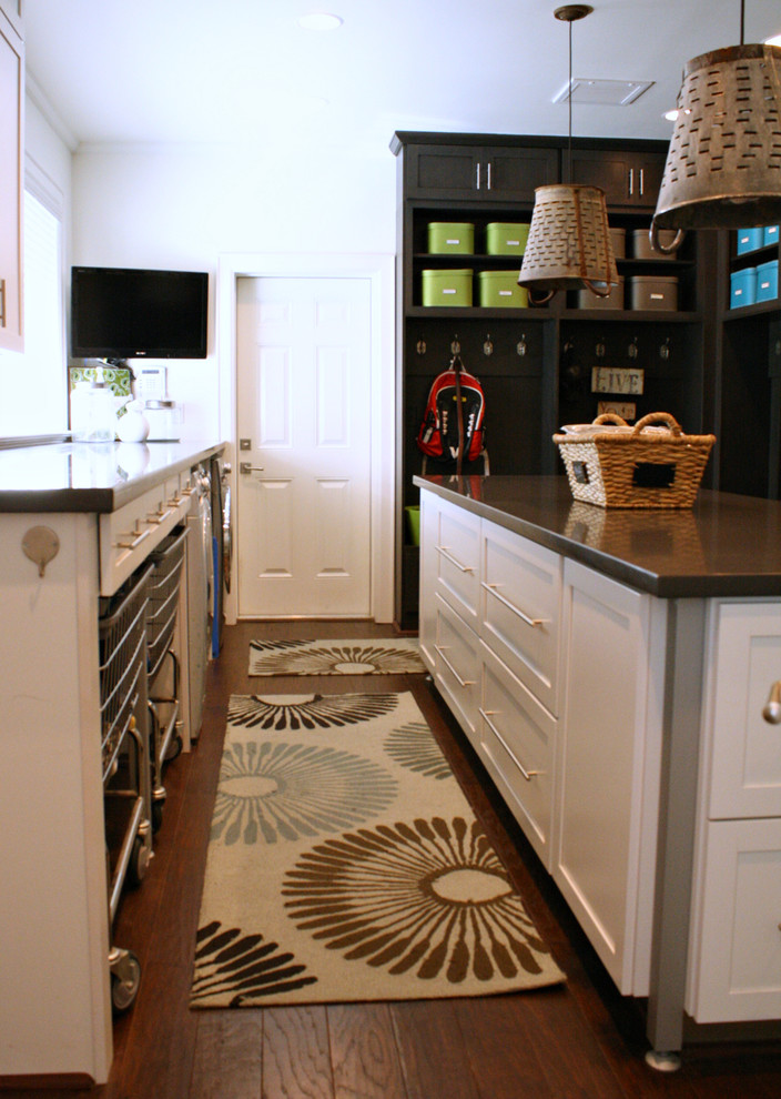 Transitional laundry room photo in Tampa