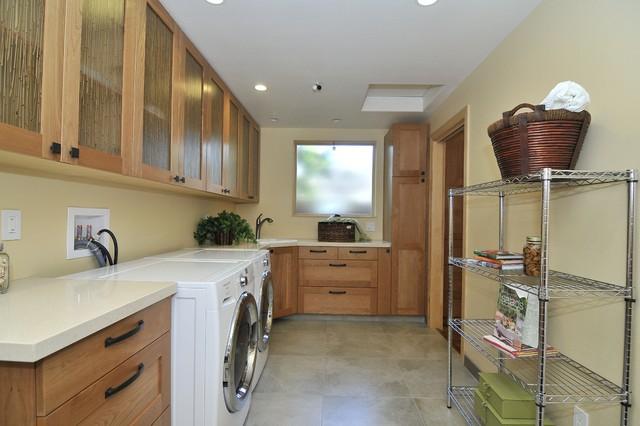 Net Zero Energy Home transitional-laundry-room