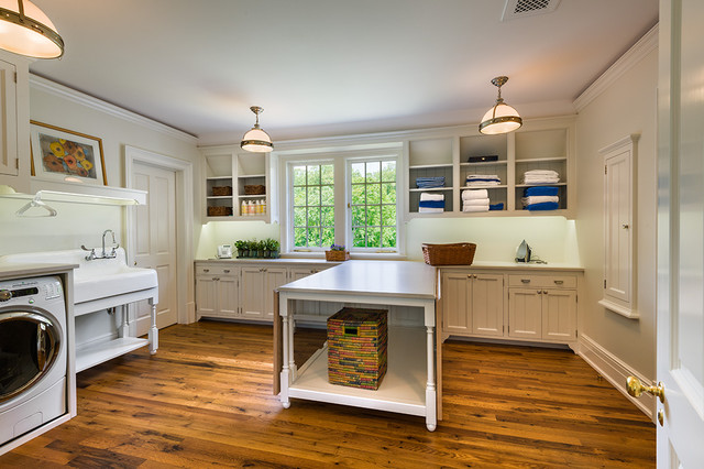 New House - Wayne, PA - Traditional - Laundry Room - Philadelphia - by Peter Zimmerman Architects