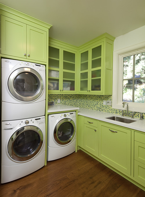 How Deep Is The Upper Cabinet Above The Stacked Washer And Dryer?