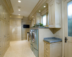Newport Beach Custom Home traditional-laundry-room