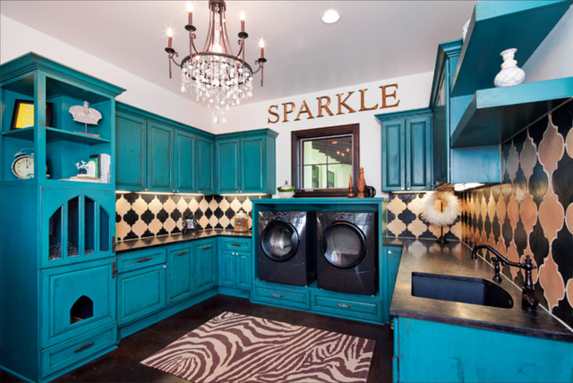 Eclectic Laundry Room By Gingerwood