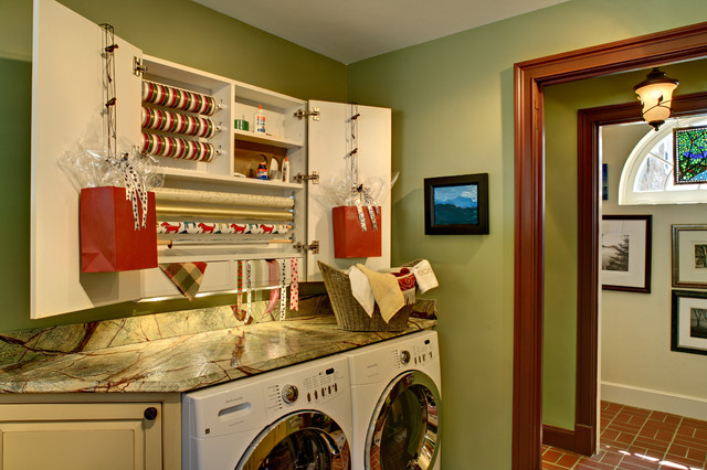 traditional laundry room by Bruen Design Build Inc