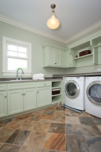 Oakley Home Builders traditional laundry room