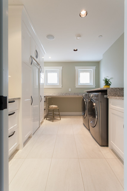 Oceanfront Craftsman - Custom Home transitional-laundry-room