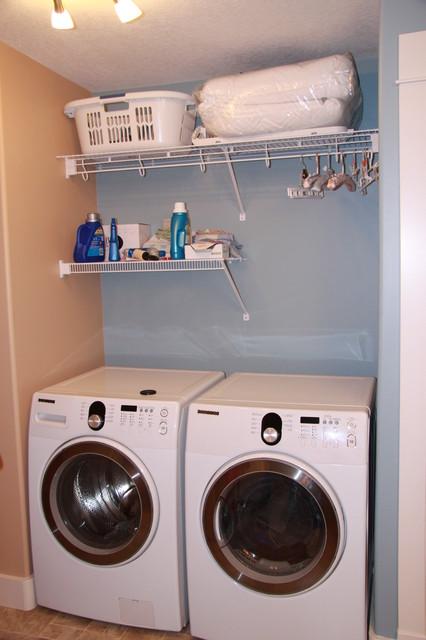 Okanagan Ovington Residence Renovation traditional-laundry-room