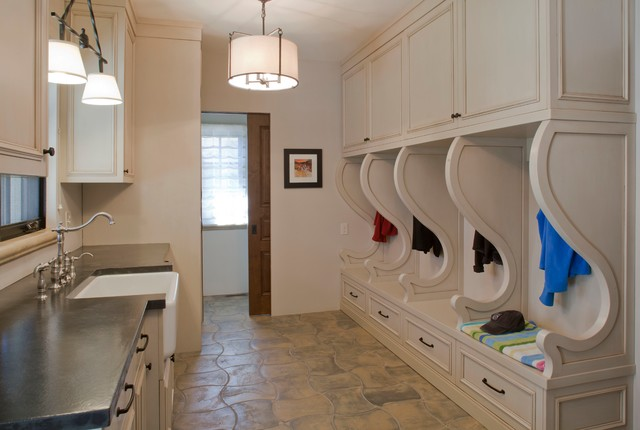 Old World Elegance Rustic Laundry Room Denver By