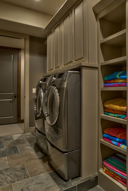 Old World Sanctuary Home Omaha Ne Traditional Laundry Room Omaha By Eurowood Cabinets